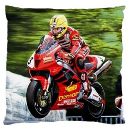 Joey Dunlop King Of The Mountian Cushion